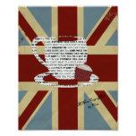 Union Jack Picture Poster A Nice Cup of Tea Vintag