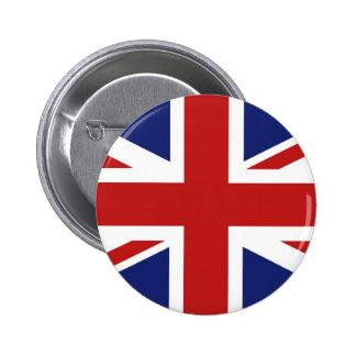 Union Jack Pin Redondo De 2 Pulgadas
