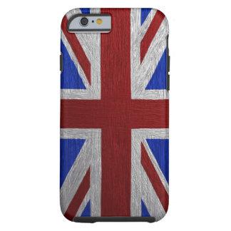 Union Jack pintado Funda De iPhone 6 Tough
