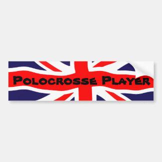 Union Jack Polocrosse Player Bumper Sticker