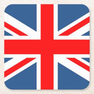 Union Jack Posavasos Desechable Cuadrado