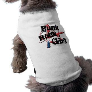 Union Jack Punk Rock Girl Pet Shirt