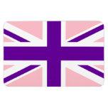 Union Jack púrpura rosado Imán