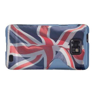 Union Jack que agita la bandera Samsung Galaxy S2 Carcasa