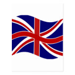 Union Jack que agita Postal