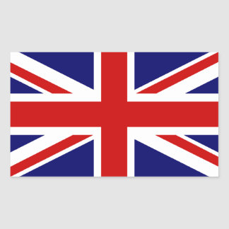 Union Jack Rectangular Sticker
