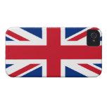 Union Jack Reino Unido iPhone 4 Case-Mate Coberturas
