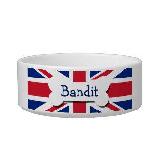 Union Jack Reino Unido personalizado Tazón Para Gato