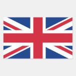 Union Jack Reino Unido Rectangular Pegatinas