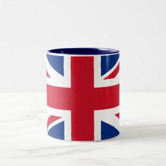 Union Jack Reino Unido Taza De Café De Dos Colores