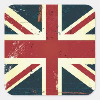 Union Jack resistido Pegatina Cuadrada