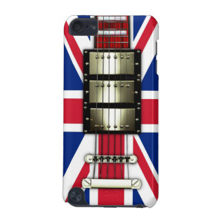 Union Jack Retro Electric Guitar #1A iPod Touch 5G Case