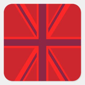 Union Jack rojo Pegatina Cuadrada