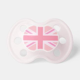 Union Jack rosado bandera Chupete De Bebé