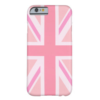 Union Jack rosado/bandera Funda De iPhone 6 Barely There
