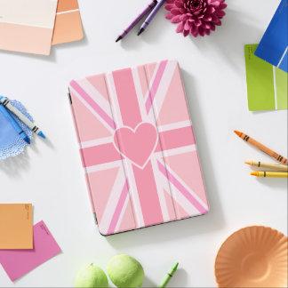 Union Jack/rosas y corazón de la bandera Cover De iPad Air