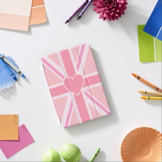 Union Jack/rosas y corazón de la bandera Cover De iPad Mini