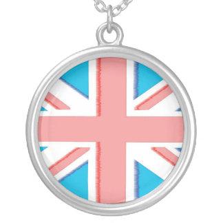 Union Jack Round Pendant Necklace