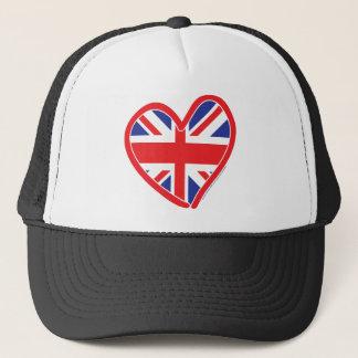 Union Jack Royal Heart Trucker Hat