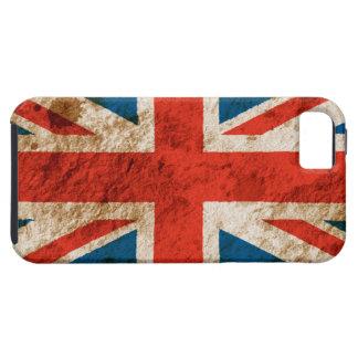 Union Jack rugoso iPhone 5 Carcasas