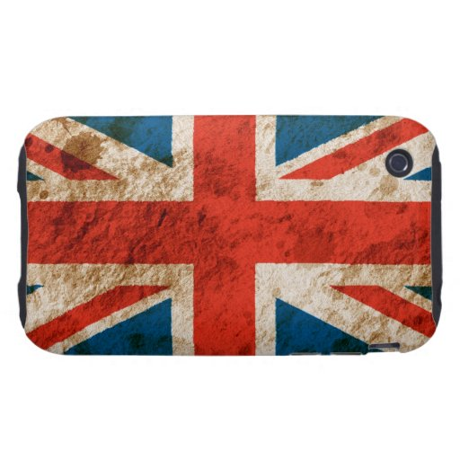 Union Jack rugoso Tough iPhone 3 Protectores