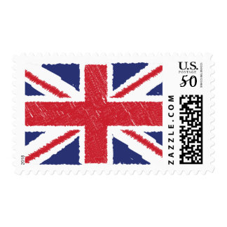 Union Jack Sbribble Abstract Flag Background Stamp
