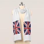 "Union Jack Scarf<br><div class=""desc"">A patriotic red,  white and blue Union Jack British FLAG design . Flag of Great Britain United Kingdom</div>"