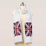 "Union Jack Scarf<br><div class=""desc"">A patriotic red,  white and blue Union Jack British FLAG design . Flag of Great Britain United Kingdom</div>"
