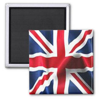 Union Jack sedoso Imán Cuadrado