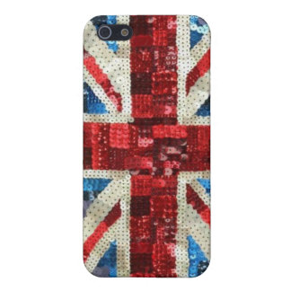 Union Jack sequin bling UK English flag iPhone Cover For iPhone SE/5/5s