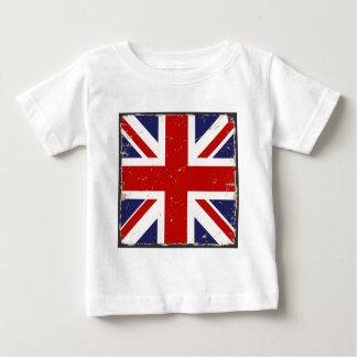 Union Jack Shabby Chic Baby T-Shirt