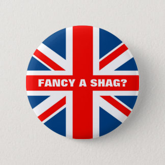 Union Jack shag Button