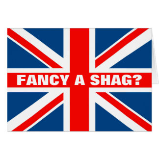 Union Jack shag Card
