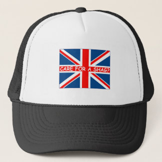 Union Jack shag Trucker Hat