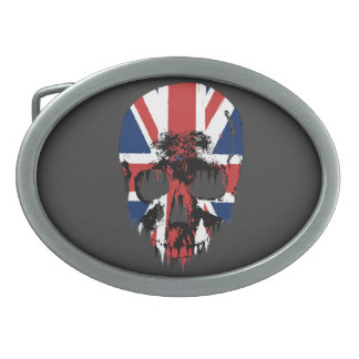 Union Jack skull Belt Buckle