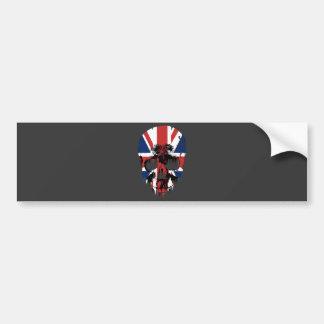 Union Jack skull Bumper Sticker