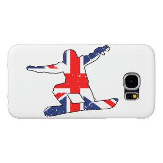Union Jack SNOWBOARDER (blk) Samsung Galaxy S6 Case
