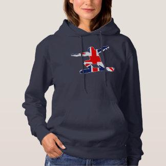 Union Jack SNOWBOARDER (wht) Hoodie