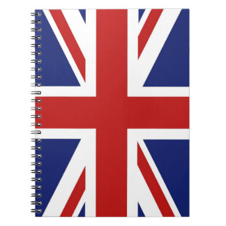 Union Jack Spiral Note Book