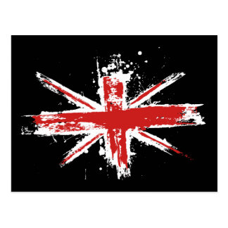 Union Jack Splatter Postcard