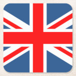 "Union Jack Square Paper Coaster<br><div class=""desc"">Union Jack drink coaster</div>"