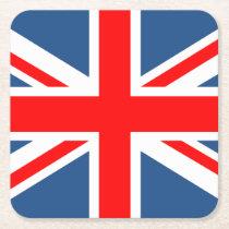 Union Jack Square Paper Coaster