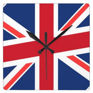 Union jack square wall clock