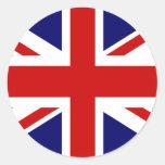 Union jack stickers | round