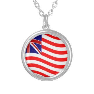 Union Jack Stripies Flag Personalized Necklace