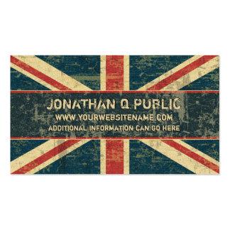 Union Jack sucio Tarjetas De Visita