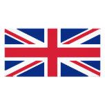 Union Jack Tarjeta Con Foto Personalizada
