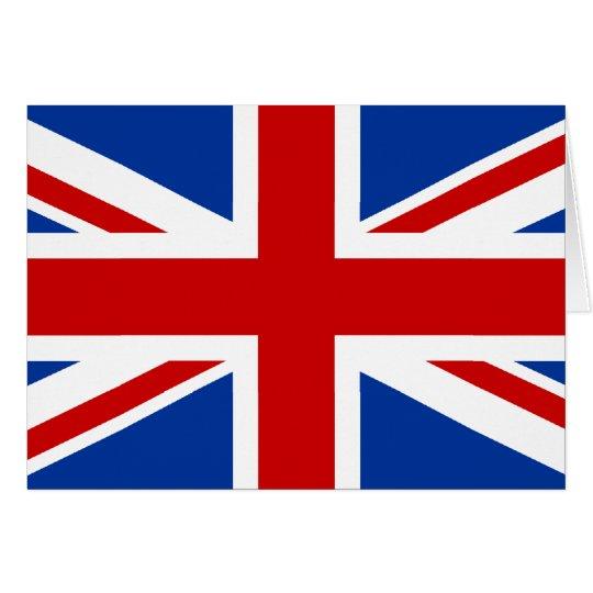 Union Jack Tarjeta De Felicitación