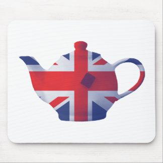 Union Jack Teapot Mouse Pad
