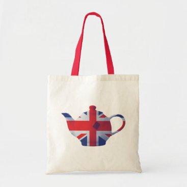 digital_creations Union Jack Teapot Tote Bag